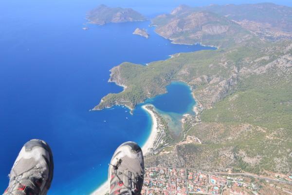 Paradisíaca playa de Oludeniz, a 2000m de altura