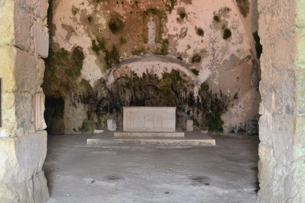 El interior de la Gruta de San Pedro, en Antioquía