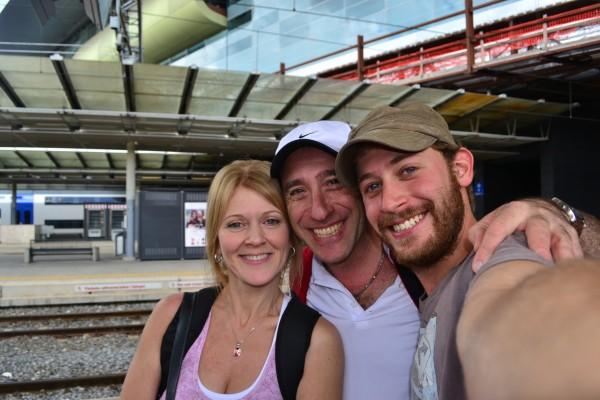 Reencuentro con mis padres en la Estación Tiburtina de Roma