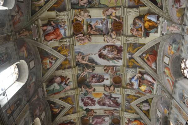 Bóveda de Miguel Ángel, Capilla Sixtina