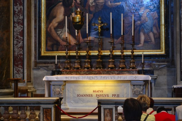 Tumba de Juan Pablo II, Basílica de San Pedro