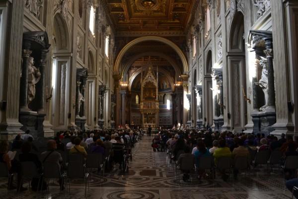 Interior de la Archibasílica de San Juan Letrán