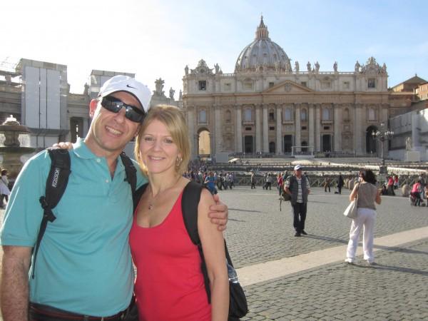 El reencuentro con mis padres en Roma. ¡Los quiero!