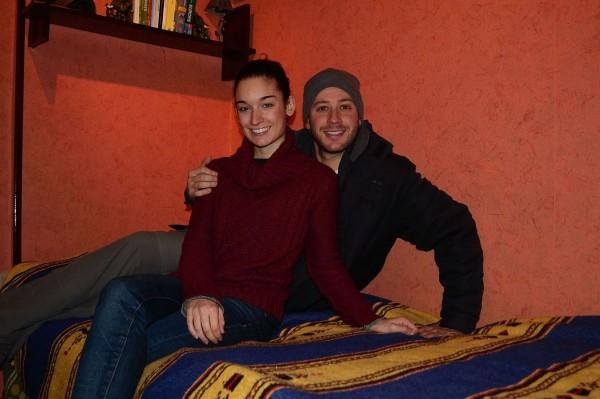 Con Jani, en la habitación que alquilé durante cuatro meses en Sestao. ¡Qué buenos recuerdos me trae!