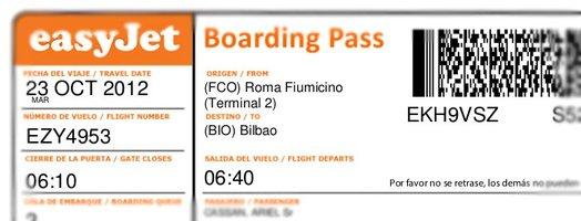 Pasaje de vuelta a Bilbao