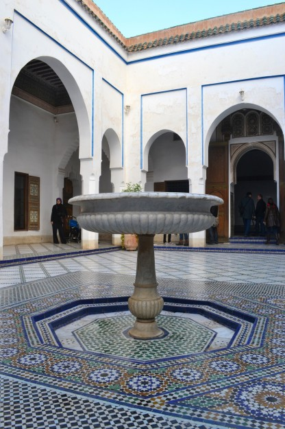 Fuente en el Palacio Bahía, Marrakech