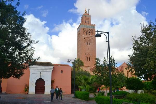La mezquita Kutubia, con su famoso minarete