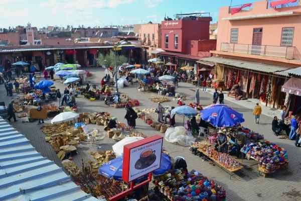 Plazas internas en el zoco de Marrakech