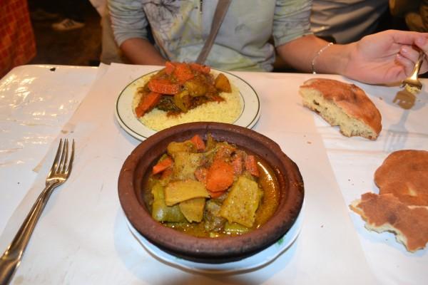 El tagine de verduras, otra delicia de la gastronomía local