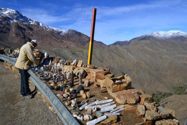 Paso Tizi n'Tichka, en la Cordillera de los Atlas