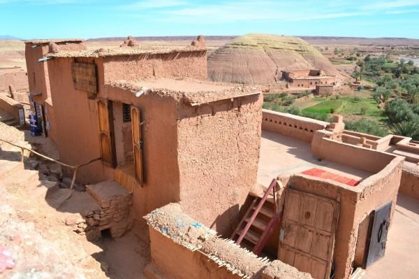 Construcciones de adobe en el ksar de Ait Benhaddou