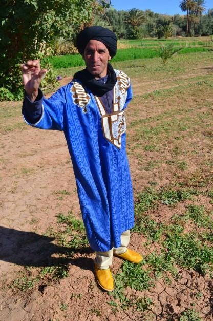El traje típico bereber. Aladdin, ¡un poroto!