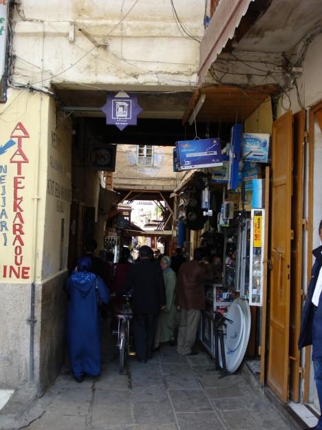 Estrecha puerta de entrada al Mellah, el barrio judío (fuente: Badr Guennoun)