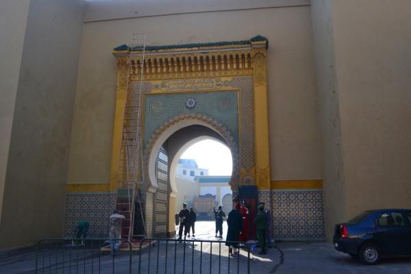 Puerta lateral al Palacio Real, desde el Viejo Menchuar
