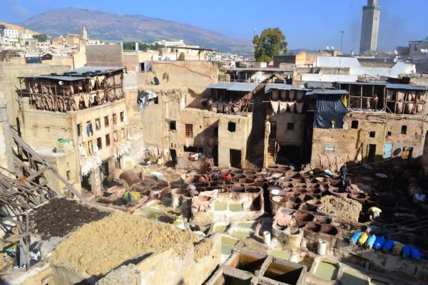 La curtiembre Sidi Moussa, de menor tamaño que la gran Chouwara