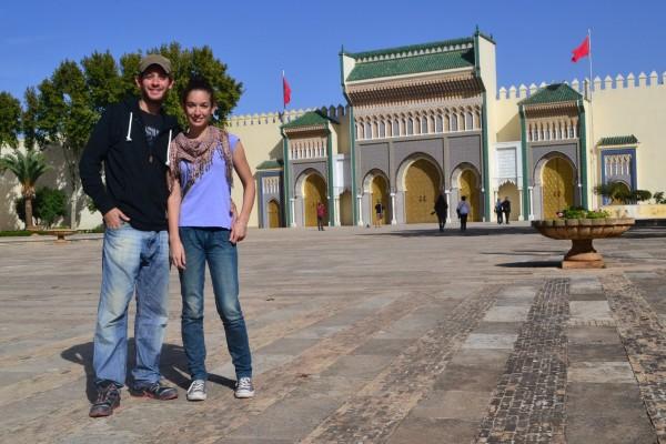 En las puertas del Palacio Real, Fez El-Jdid