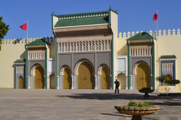 Las imponentes puertas doradas del Palacio Real