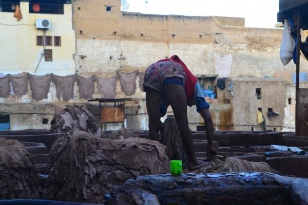 La vida de los trabajadores resulta insalubre, entre tanto colorante y contaminación ambiental