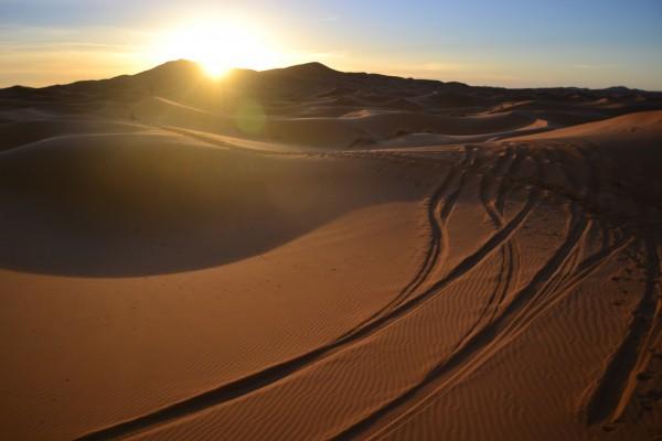 Amanecer en el Sahara