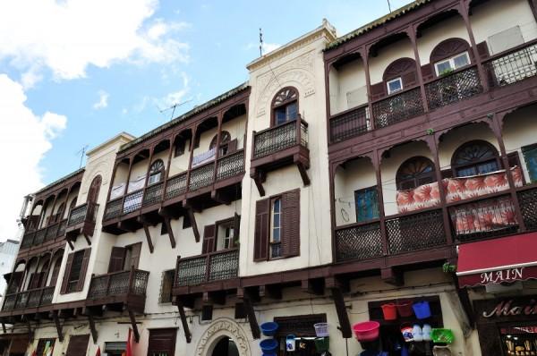 Arquitectura típica del barrio judío (Fuente: fez.net)