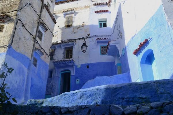Más imagenes azuladas de la medina de Chefchaouen