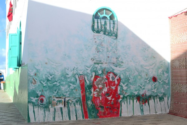 Murales pintados en la última edición del festival anual de Assilah