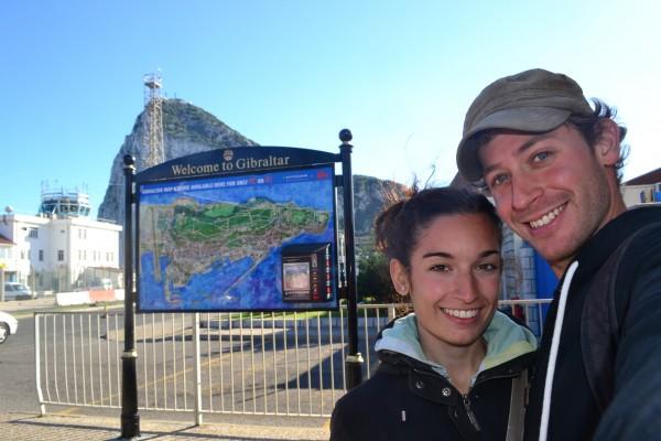 Con Janire, en el peñón de Gibraltar