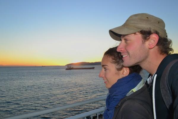 Atardecer en el Estrecho de Gibraltar