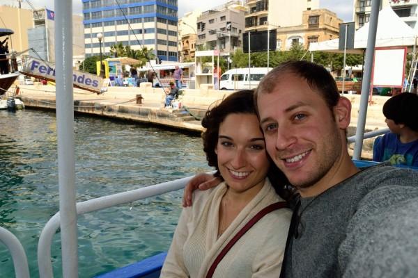 La Odisea a Dúo, en el Puerto de Sliema, Malta