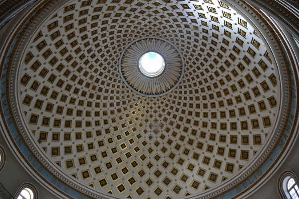 El domo de Mosta Rotonda, el tercero más grande en Europa