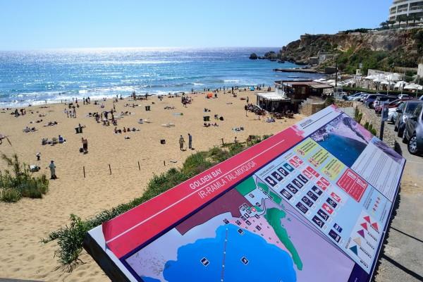 Golden Bay, la playa más famosa de Malta