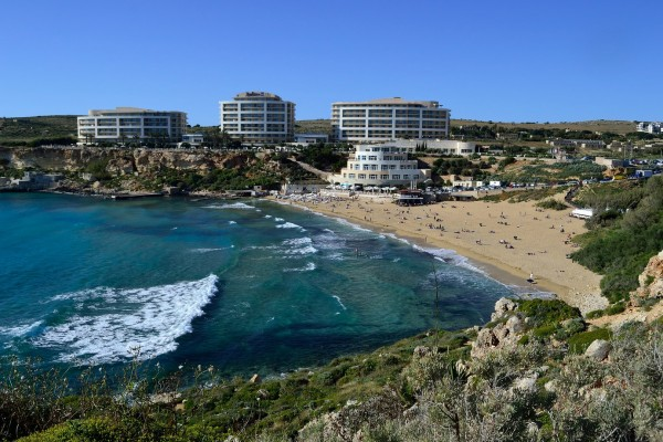 Golden Bay, la playa más famosa de Malta
