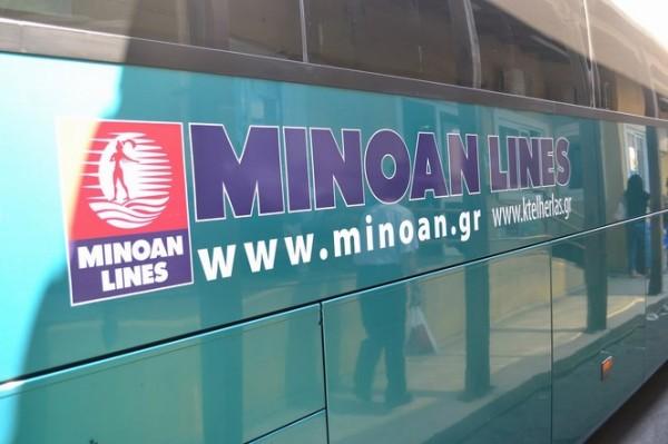 Los buses cretenses de las Minoan Lines (KTEL)