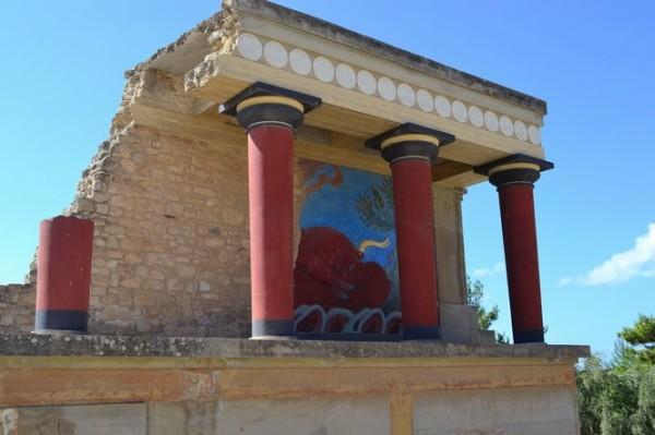 Estado actual de las ruinas del Palacio de Knossos