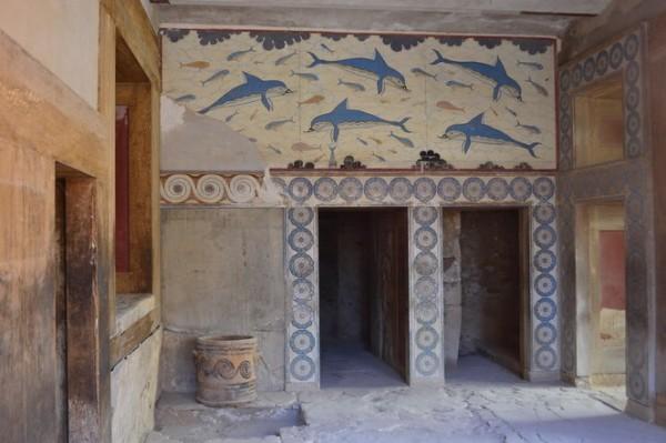 Murales de Knossos, reconstruidos