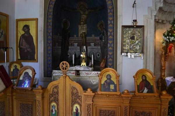 Iglesia Ortodoxa Griega en Heraklion. La disposición es completamente distinta a las católicas.