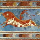 El Salto de los Toros, mural en Knossos