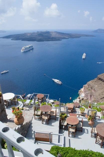 La increíble caldera de Santorini