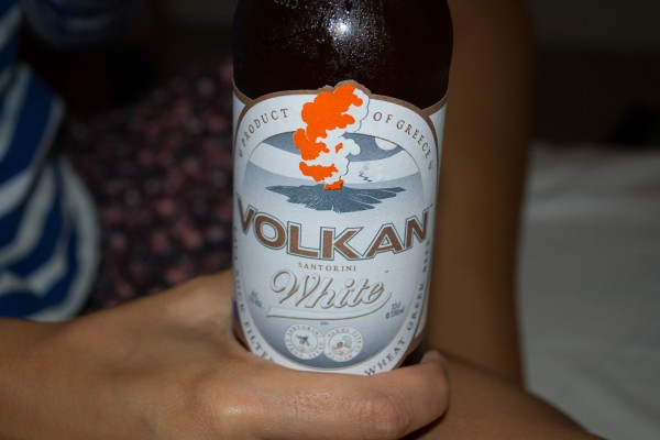 Cerveza Volkan de Santorini