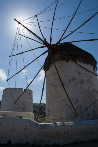 Los molinos de Mykonos Town