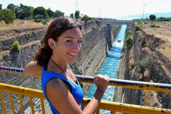 En el Canal de Corinto
