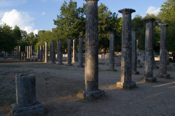 Palestra Olímpica, cercana al Santuario de Olympia