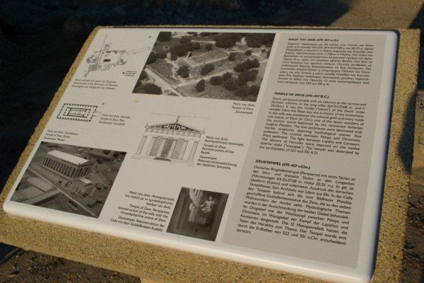 Ruinas del Templo de Zeus en Olympia, que albergaba una de las 7 maravillas