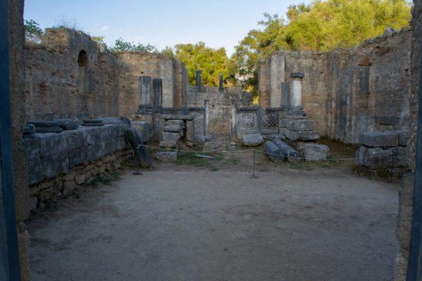 Taller del maestro Fidias, escultor de la estatua a Zeus en Olympia