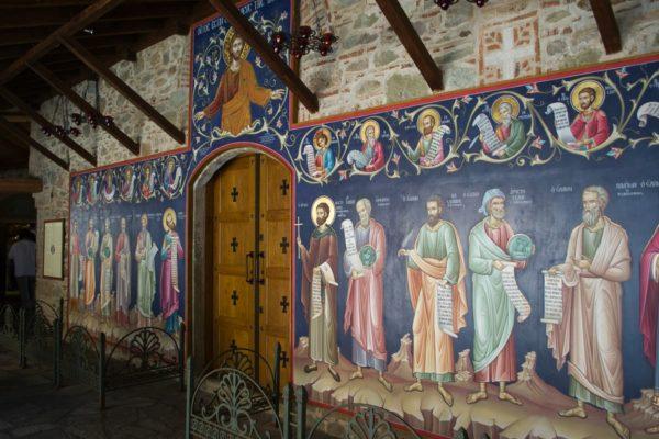 Arte en los murales del Monasterio Gran Meteoro