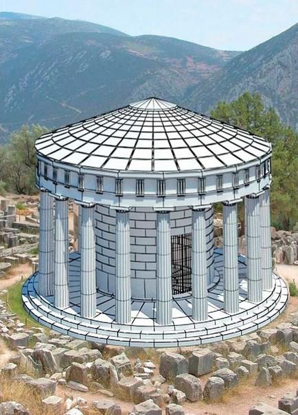 Tholos de Atena Pronaia reconstruido en 3D