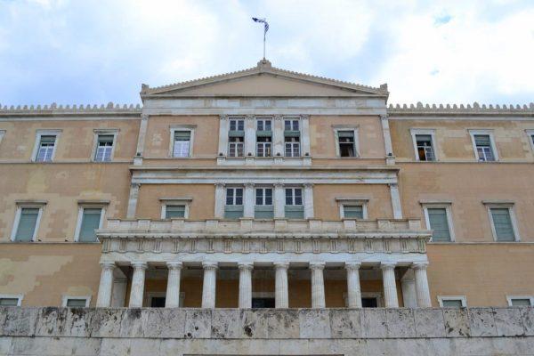 Palacio Real en Plaza Syntagma, hoy casa del Parlamento Griego